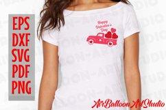 Valentines Day Truck Svg Valentines SVG Love Svg Valentine Product Image 4