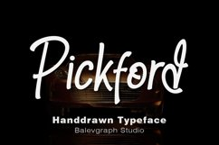 Pickford Hand-Drawn Typeface Product Image 1