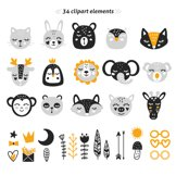 Baby Scandinavian animals Clipart Bundle for nursery q Product Image 3