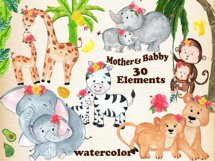 Mother and baby animals clipart Product Image 1