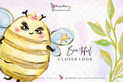 Honey Bumble Bee Glam Clipart PNG   DrawBerry CP007 Product Image 2