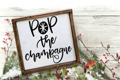 New Year SVG - Pop the Champagne Hand-Lettered Cut File Product Image 1