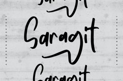 Saragit   A Modern Brush Font Product Image 1