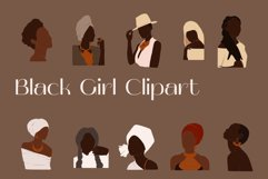 Black Girl Clipart, portrait vector, abstract woman, female Product Image 1