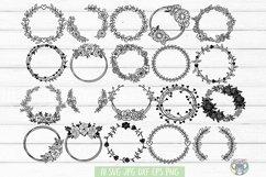 Floral Wreath svg, Bundle 20 DESIGNS, Floral Frame, Cricut Product Image 1