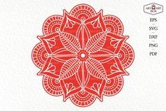Mandala boho for cutting. Contour, silhouette. Product Image 4