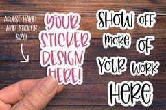 Sticker Mockup, Smart Object PSD, Vinyl Decal Mockup Product Image 3