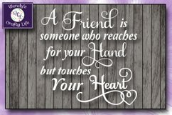 Friend svg - Friend wall quote - SVG - PNG Product Image 1