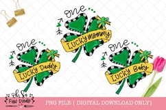 One lucky mommy, daddy, baby, St Patricks sublimation bundle Product Image 1