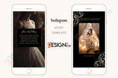 Black Gold Floral Instagram Story Template Product Image 3