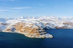 Amazing winter landscape of Charvak reservoir in Uzbekistan Product Image 1