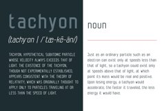 Tachyon Font - Condensed Sans Serif Product Image 3