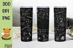 Chalkboard Doodles School Teacher Skinny Tumbler Sub Product Image 1
