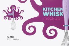 Kitchen Whisk Any Shape Label Mockup Product Image 2
