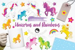 Unicorns and Rainbows graphics and illustrations Product Image 1