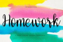 Homework - Beauty Calligraphy Font Product Image 1
