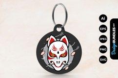 Kabuki Mask Keychain Product Image 1