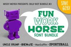 Billy Bot Bundle 3 - The Fun Workhorse Font Bundle! Product Image 7
