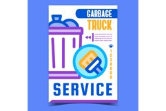 Garbage Truck Service Advertising Banner Vector Product Image 1