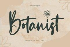 Web Font Botanist - Handwritten Script Font Product Image 1