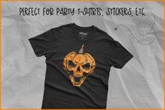 Halloween SVG, Skull Pumpkin SVG, Jack O'Lantern Skull Rocks Product Image 4