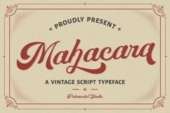 Mahacara - Vintage Script Product Image 1