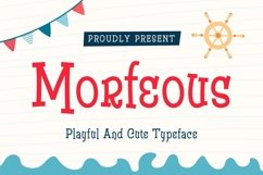 Morfeous - Playful and Cute Typeface Product Image 1