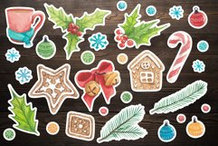 New year watercolor set, watercolor stickers happy new year Product Image 2