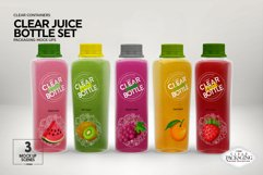 Juice Bottle Set Packaging MockUp Product Image 3