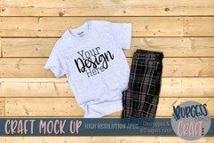 Mens grey Gildan tshirt |Craft mock up Product Image 1