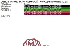 Two Roses Applique Design Product Image 3