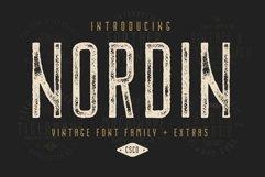Nordin Vintage Font Family Bonus Badge Logo Product Image 1