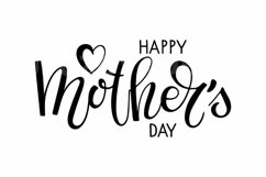 Happy Mothers Day SVG. Mother's day svg. Hand lettering Product Image 2