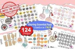 Keyring Monogram Bundle 4, Circular Pattern, Monogram Frame Product Image 1