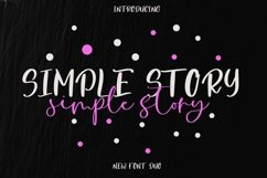Web Font Simple Story Font Duo Product Image 1