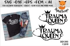 Trauma Queen Nurse RN SVG Product Image 1