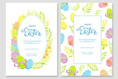 Happy Easter invitations and cards vector set Product Image 2
