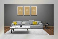 3D Interior Living Room Frame Mockup Product Image 1