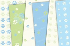 Pastel green and blue seamless paws backgrounds Product Image 2