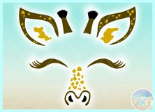 Giraffe Face SVG Dxf Eps Png PDF Files for Cricut Silhouette Product Image 2