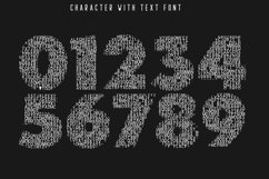 Character with Text Font Product Image 3