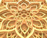 M156 - 3D Mandala Pattern Shadow Box Mandala SVG DXF Product Image 6