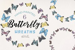 Butterfly 6 Wreath Watercolor Garlands Butterflies Spring Product Image 1