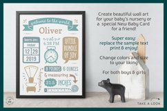 BIRTH ANNOUNCEMENT template|GOOGLE edit|Baby Stats printable Product Image 2