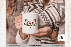 Cat Mom SVG Cat Mama SVG Cat Face SVG Cat mom with cat face Product Image 4