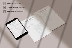 Resume and Cover Letter Template   Minimalist Resume CV Product Image 7