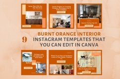 Instagram Post Template- Fall themed Interior & Real Estate Product Image 2