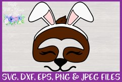 Easter | Sloth Face SVG Cut File Product Image 3