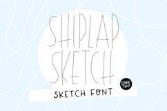 """SHIPLAP SKETCH"" Sketch Font - Single Line/Hairline Font Product Image 1"