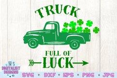 truck svg, clover svg, st patrick's day svg, kids svg, luck Product Image 3